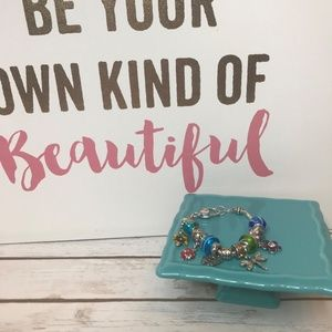 Jewelry - Silver Tone LadyBug Multi Charm Bracelet